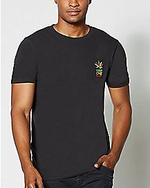 Rasta Pot Leaf Keep One Rolled T Shirt