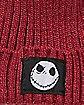 Maroon Nightmare Before Christmas Beanie Hat