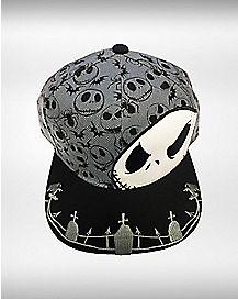 Nightmare Before Christmas Jack Snapback Hat