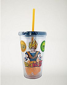 Dragon Ball Z Cup With Straw and Ice Cubes - 16 oz.