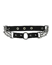 Chain Ring Collar Necklace
