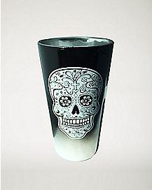 Ombre Sugar Skull Pint Glass - 16 oz.
