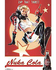 Nuka Cola Pin Up Fallout 4 Poster