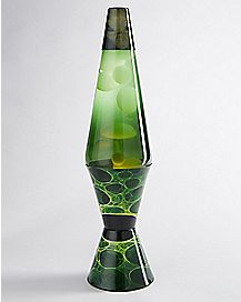 Alien Lava Lamp - 17 Inch Green Liquid White Wax