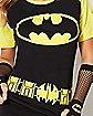 Batman Raglan Caped T Shirt - DC Comics