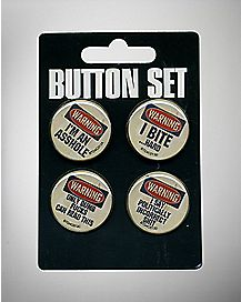 Warning Buttons - 4 Pack