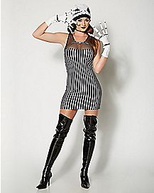 Jack Skellington Mesh Top Dress