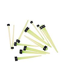 Glow Ear Taper 6 Pack 14 Gauge - 4 Gauge