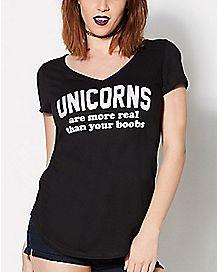 Foil Unicorns More Real T Shirt