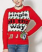 Musical Single All The Way Christmas Sweater