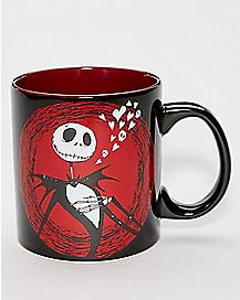 Hearts Jack Skellington Coffee Mug 20 oz. - The Nightmare Before Christmas