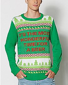 Wonderful Time For A Beer Ugly Christmas Sweater