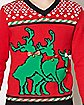 Humping Reindeer Ugly Christmas Sweater