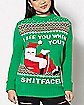 3D Can Holder Santa Ugly Christmas Sweater