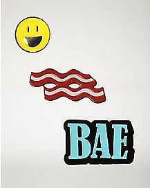 Bacon Bae Pin Set