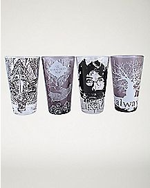 Sketch Harry Potter Pint Glasses 4 Pack - 16 oz.