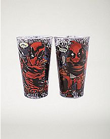 Deadpool Pint Glasses 2 Pack 16 oz. - Marvel Comics