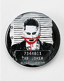 Mugshot Joker Suicide Squad Button