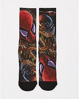 Sublimated Spider-Man Crew Socks - Marvel Comics