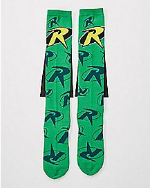 Robin Caped Knee High Socks - DC Comics
