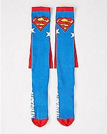 Superman Caped Knee High Socks - DC Comics