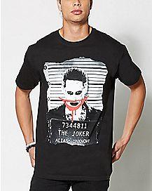 The Joker Mugshot Suicide Squad T Shirt - DC Comics