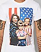 American Flag Full House T Shirt