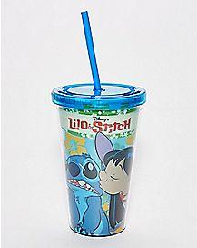 Kiss Lilo & Stitch Cup With Straw - 16 oz.