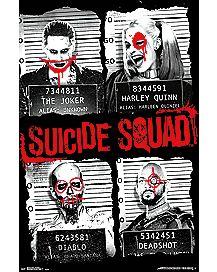 Suicide Squad Group Mugshot Poster