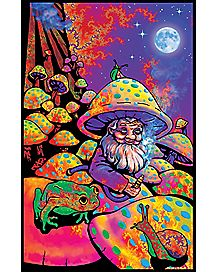 Black Light Mushroom Man Poster