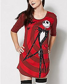 Jack Skellington Sleep Shirt - The Nightmare Before Christmas