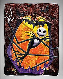 Swirls Jack Skellington Fleece Blanket - The Nightmare Before Christmas
