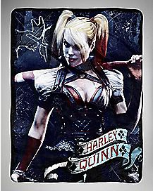 Harleys City Arkham Fleece Throw Blanket