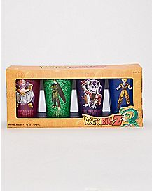 Crackled Dragon Ball Z 4 Pack Pint Glass Set - 16 oz.