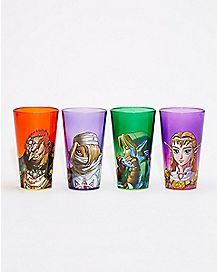 Zelda Pint Glass Set 4 Pack 16 oz. - The Legend of Zelda