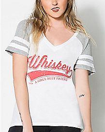 A Girl's Best Friend Whiskey T Shirt