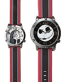 Jack and Sally Nightmare Before Christmas Watches - 2 Pack