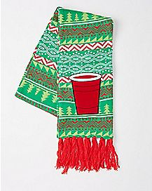 Beer Cup Christmas Scarf