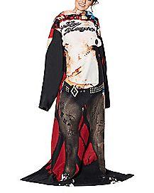 Harley Quinn Blanket with Sleeves