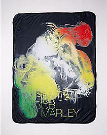 Bob Marley Smoking Fleece Blanket