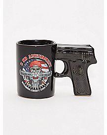 2nd Amendment Gun Handle Coffee Mug - 20 oz.
