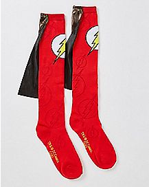 9596baa4f Caped The Flash Knee High Socks - DC Comics