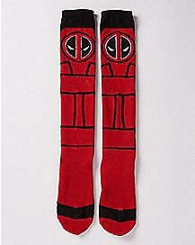 Deadpool Knee High Socks - Marvel Comics