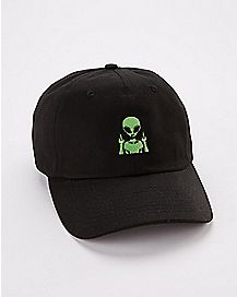 Middle Finger Alien Dad Hat