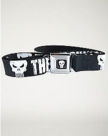 The Punisher Seatbelt Belt - Marvel Comics