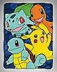 Starter Friends Fleece Blanket - Pokemon