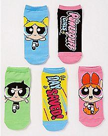 Powerpuff Girls No Show Socks - 5 pack