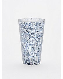 Frosted Fallout Pint Glass - 16 oz.