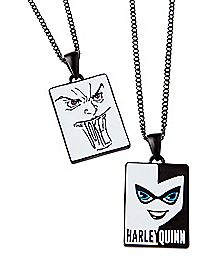 Harley Quinn and Joker Friendship Necklaces - DC Comics
