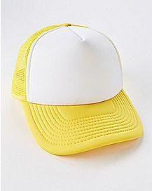 Yellow and White Trucker Hat